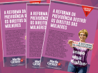 Deputada Marília Campos divulga estudo sobre a reforma da previdência e seus impactos sobre a vida das mulheres.