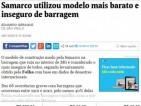 """Folha de S.Paulo: """"Samarco utilizou modelo mais barato e inseguro de barragem"""""""