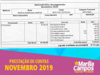 58ª PRESTAÇÃO DE CONTAS: NOVEMBRO/2019
