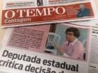 Entrevista concedida ao Jornal O Tempo Contagem - 17 de junho de 2016