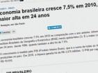 10.Crescimento do PIB do Brasil (média anual): FHC: 2,44%; Lula, 4,05% e Dilma, 2,13%